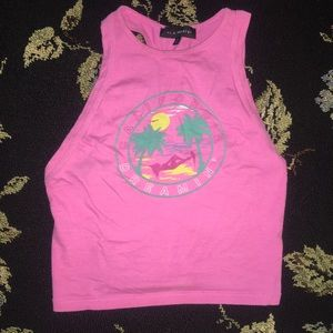 Pink California Strappy Pacsun Crop Tank XS